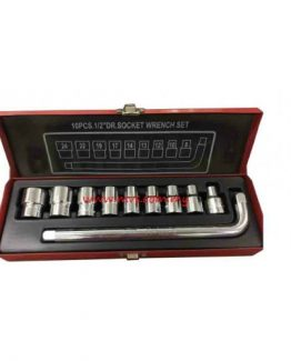 "Great 1/2"" Dr. Socket Wrench Set 10pcs 8-24mm"