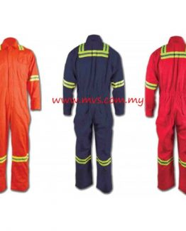 M-SAFE 100% Cotton Coverall C/W Reflector